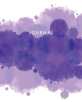 Journal: Blank Lined Notebook Purple Circles 8 X 10 - Tgr Media