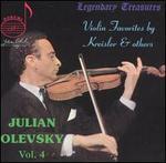 Julian Olevsky, Vol. 4: Violin Favorites by Kreisler & Others