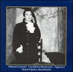 Jussi Bjorling Performs Manon Lescaut, Cavalleria rusticana, Pagliacci
