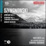 "Karol Symanowski: Symphonies Nos. 2 & 4 ""Symphonie Concertante""; Concerto Overture"