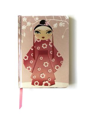 Kimono Girl (Contemporary Foiled Journal) - Flame, Tree