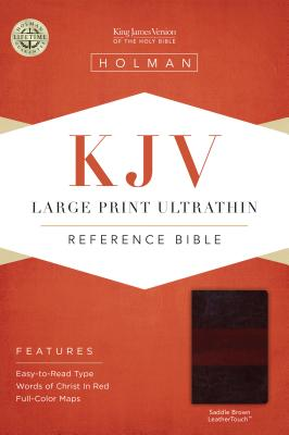 KJV Large Print Ultrathin Reference Bible, Brown LeatherTouch - Holman Bible Staff (Editor)