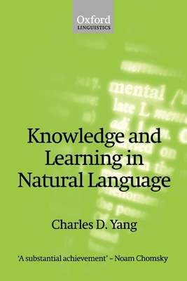 Knowledge and Learning in Natural Language - Yang, Charles D