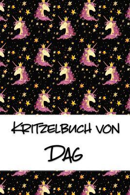 Kritzelbuch von Dag: Kritzel- und Malbuch mit leeren Seiten f?r deinen personalisierten Vornamen - Publikationen, Nachwuchskunstler