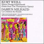 Kurt Weill: Kleine Dreigroschenmusik; Darius Milhaud: La Création du Monde