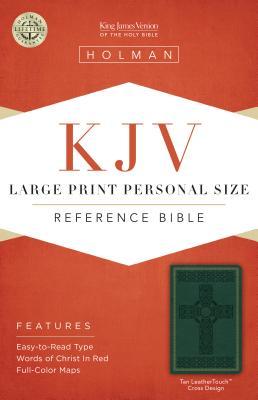Large Print Personal Size Reference Bible-KJV-Cross Design - Holman Bible Staff (Editor)