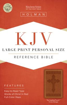 Large Print Personal Size Reference Bible-KJV-Cross Design - Holman Bible Staff (Editor)