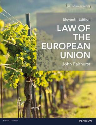 Law of the European Union - Fairhurst, John