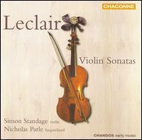Leclair: Violin Sonatas - Nicholas Parle (harpsichord); Simon Standage (violin)