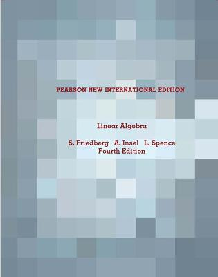 Linear Algebra Pearson New International Edition Book By