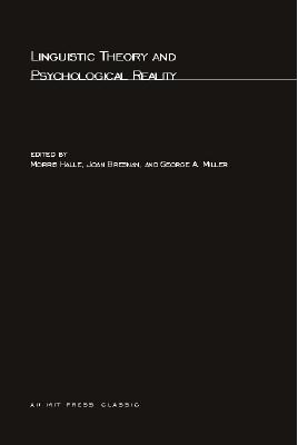 Linguistic Theory and Psychological Reality - Halle, Morris (Editor)