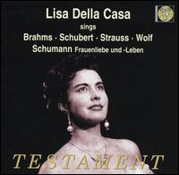 Lisa Della Casa sings Brahms, Schubert, Strauss, Wolf, Schumann - Karl Hudez (piano); Lisa della Casa (soprano); Sebastian Peschko (piano)