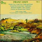 Liszt: Elegies Nos. 1 & 2 for Violin & Piano; Grand Duo Concertant; Epithalam; Romance Oubliée; Duo Sonata