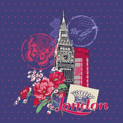 London: Travel Journal Scrapbook: Full Color with Photo Pages and Color Artwork - Memories, Scrap Happy