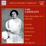 Lotte Lehmann: Lieder Recordings, Vol. 1