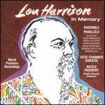 Lou Harrison: In Memory