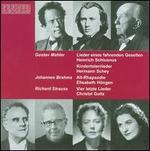 Mahler: Lieder eines fahrenden Gesellen; Brahms: Alt-Rhapsodie; Strauss: Vier letzte Lieder