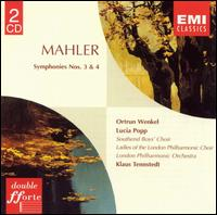 Mahler: Symphonies Nos. 3 & 4 - Lucia Popp (soprano); Ortrun Wenkel (alto); Ladies of the London Philharmonic Choir (choir, chorus);...