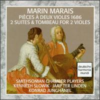 Marais: 2 Suites & Tombeau For 2 Violins - Jaap ter Linden (bass viol); Kenneth Slowik (bass viol); Smithsonian Chamber Players (chamber ensemble); Konrad Junghanel (conductor)