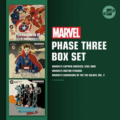 Marvel's Phase Three Box Set: Marvel's Captain America: Civil War; Marvel's Doctor Strange; Marvel's Guardians of the Galaxy, Vol. 2 - Marvel Press, and Taylorson, Tom (Read by), and Hastings, Bradford (Read by)