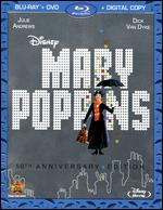 Mary Poppins [50th Anniversary Edition] [2 Discs] [Includes Digital Copy] [Blu-ray/DVD] - Robert Stevenson