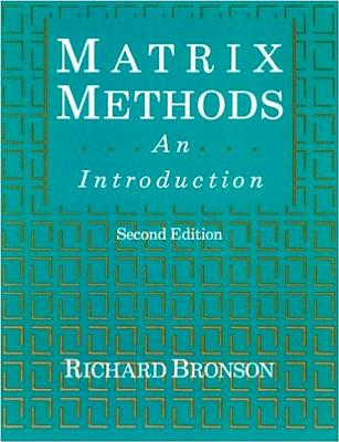 Matrix Methods: An Introduction - Bronson, Richard