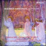 Maurice Emmanuel: Les Melodies