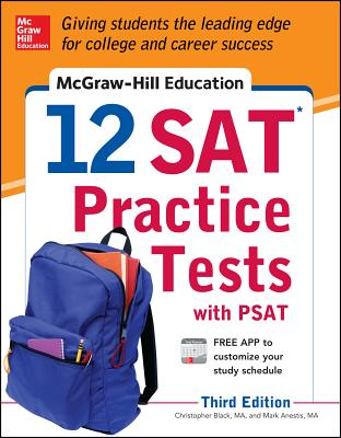 McGraw-Hill Education 12 SAT Practice Tests with PSAT - Black, Christopher