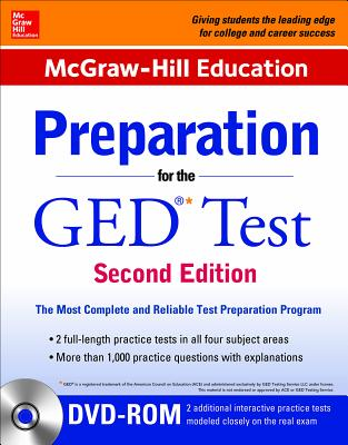 McGraw-Hill Education Preparation for the GED Test with DVD-ROM - McGraw Hill Editors