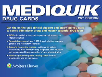 Mediquik Drug Cards - Vitale, Carla, and Lww