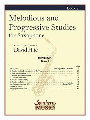 Melodious and Progressive Studies, Book 2: For Saxophone - Hite, David
