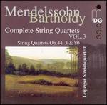 Mendelssohn-Bartholdy: Complete String Quartets, Vol. 3