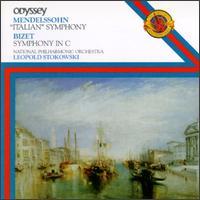 "Mendelssohn/Bizet: ""Italian"" Symphony No. 4/Symphony in C Major - David Theodore (oboe); National Philharmonic Orchestra; Leopold Stokowski (conductor)"