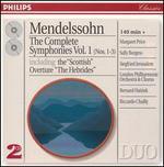 Mendelssohn: The Complete Symphonies, Vol.1