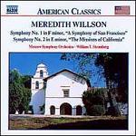 Meredith Willson: Symphony No. 1 in F minor; Symphony No. 2 in E minor
