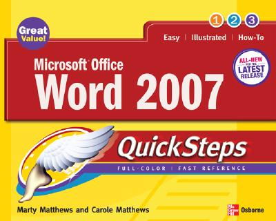 Microsoft Office Word Quicksteps - Matthews, Marty