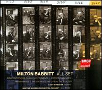 Milton Babbitt: All Set - Lucy Shelton (soprano); Boston Modern Orchestra Project; Gil Rose (conductor)