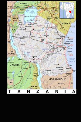 Modern Day Color Map of Tanzania in Africa Journal: Take Notes, Write Down Memories in This 150 Page Lined Journal - Journal, Map Lovers, and Paper, Pen2