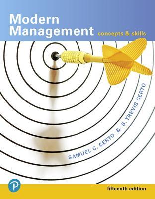 Modern Management: Concepts and Skills - Certo, Samuel