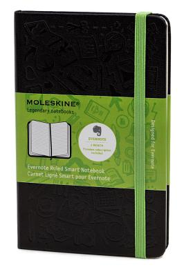 Moleskine Evernote Large Ruled Smart Notebook - (5 X 8.25) - Moleskine