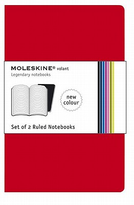 Moleskine Set of 2 Ruled Notebooks-Red - Moleskine