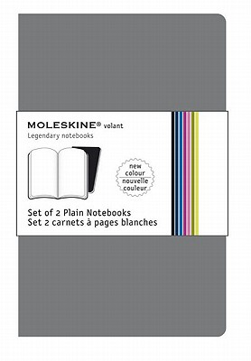 Moleskine Volant Notebook Plain, Grey Pocket - Set of 2 - Moleskine