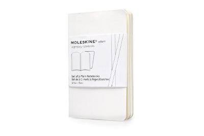 Moleskine Volant Notebook (Set of 2 ), Extra Small, Plain, White, Soft Cover (2.5 X 4) - Moleskine