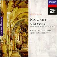 Mozart: 5 Masses - Wiener Philharmoniker; King's College Choir of Cambridge (choir, chorus); Vienna State Opera Chorus (choir, chorus);...