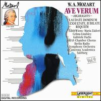 Mozart: Ave Verum - Celina Lindsley (soprano); Edith Wiens (soprano); Gabriele Fuchs (soprano); Gabriele Schreckenbach (contralto);...