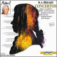 Mozart: Concertos: Oboe - Clarinet - Horn - Flute & Harp - Angelica Berger (harp); Béla Kovács (clarinet); Bernd Heiser (horn); Burkhard Glaetzner (oboe); Hans Friedrich (flute);...