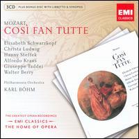 Mozart: Cos� fan Tutte - Alfredo Kraus (vocals); Christa Ludwig (vocals); Elisabeth Schwarzkopf (vocals); Giuseppe Taddei (vocals);...