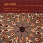 Mozart: Divertimento K. 251; Concerto for 2 Pianos, K. 365; Symphony No. 40 K. 550