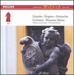 Mozart: Litanies; Vespers; Oratorios; Cantatas; Masonic Music