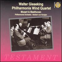 Mozart: Quintet in E flat major; Sinfonia concertante; Beethoven: Quintet in E flat major - Bernard Walton (clarinet); Cecil James (bassoon); Dennis Brain (horn); Philharmonia Orchestra; Sidney Sutcliffe (oboe);...